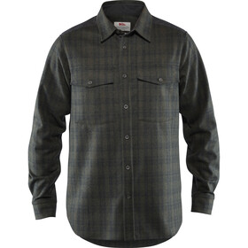 Fjällräven Övik Re-Wool Longsleeve Shirt Heren, dark grey-olive